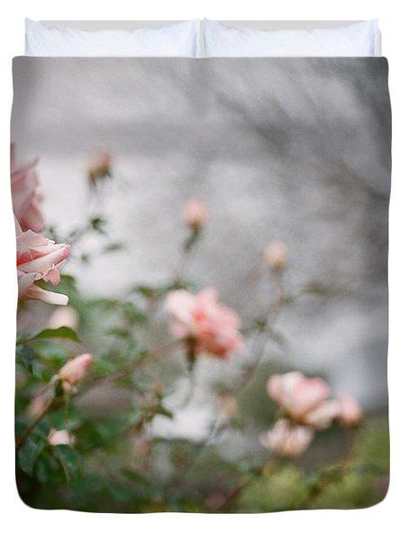 The Rose Garden Duvet Cover by Linda Unger