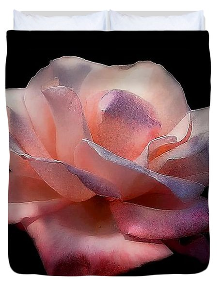 Duvet Cover featuring the photograph The Rose by John  Kolenberg