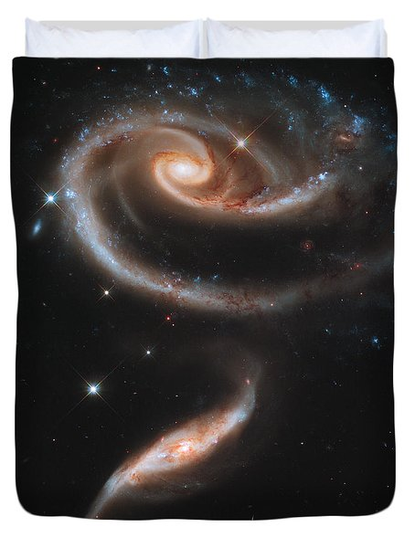 The Rose Of Galaxies Duvet Cover