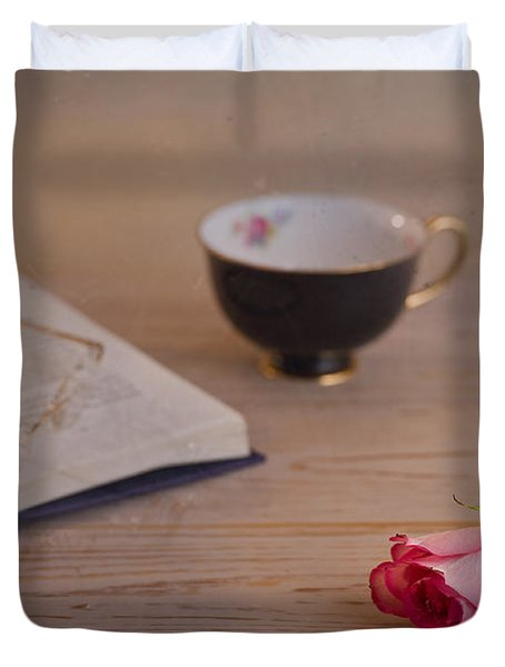 Duvet Cover featuring the photograph The Rose by Trevor Chriss