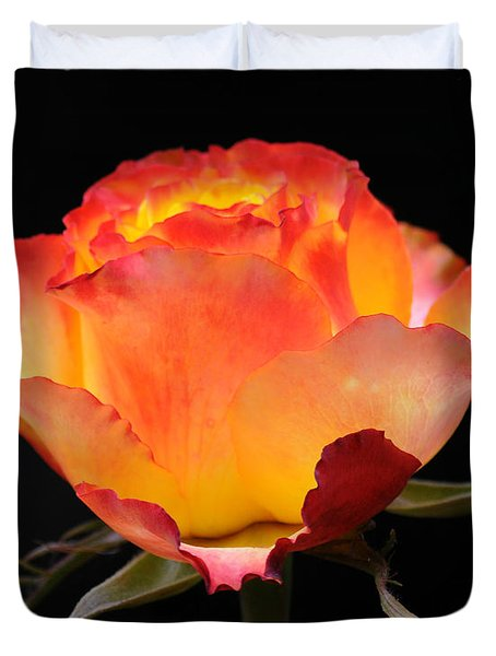 Duvet Cover featuring the photograph The Rose by Vivian Christopher