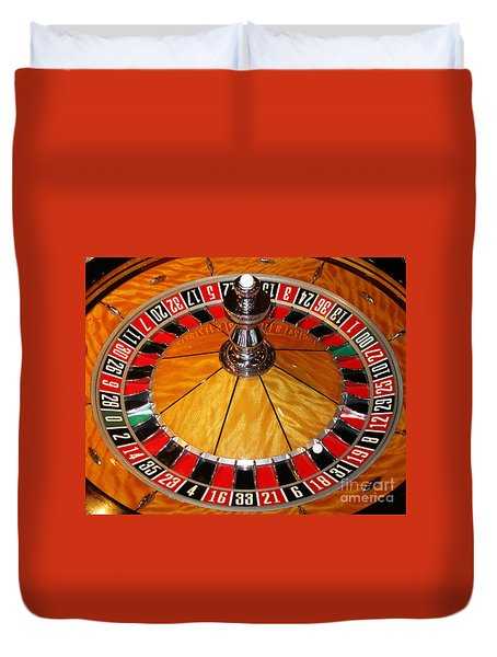 The Roulette Wheel Duvet Cover by Tom Conway