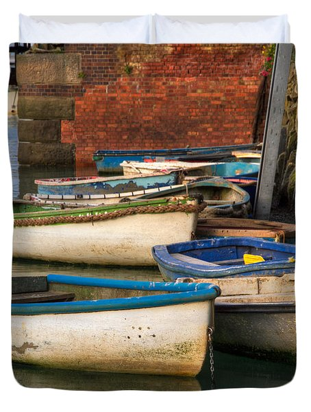 The Rowboats Of Folkestone Duvet Cover by Tim Stanley
