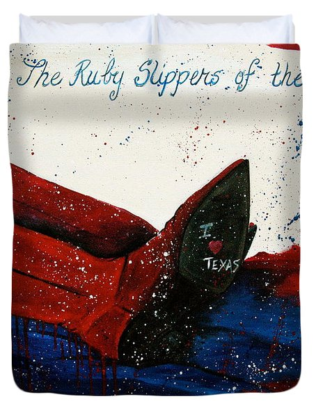 The Ruby Slippers Of The South Duvet Cover