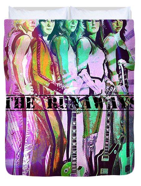 The Runaways Duvet Cover by Absinthe Art By Michelle LeAnn Scott