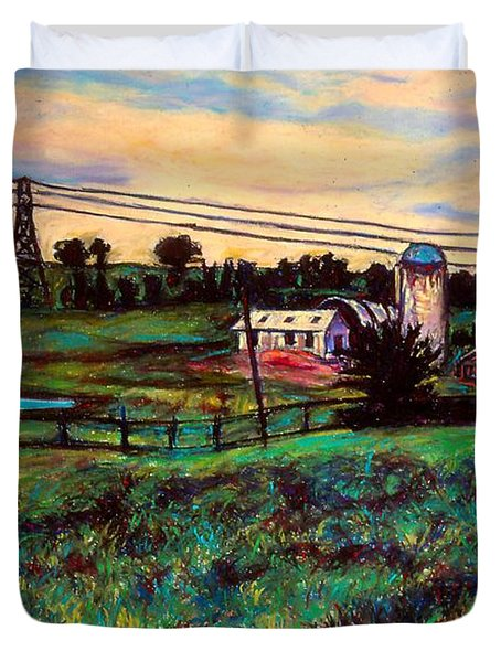 The Rusty Silo Duvet Cover by Kendall Kessler
