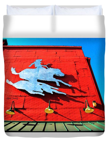 The Saloon Duvet Cover by Chris Berry