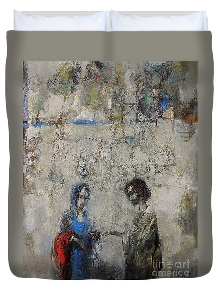 The Samaritan Woman At The Well Duvet Cover