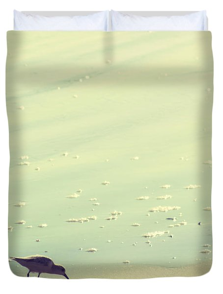 The Sandpiper Duvet Cover by Amy Tyler