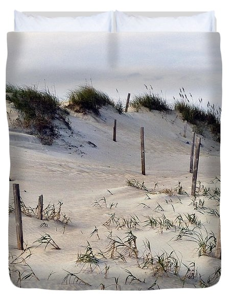 The Sands Of Obx Duvet Cover by Greg Reed