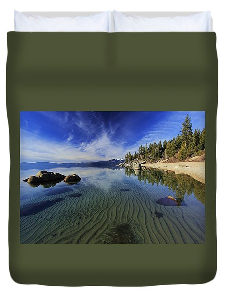 Duvet Cover featuring the photograph The Sands Of Time by Sean Sarsfield