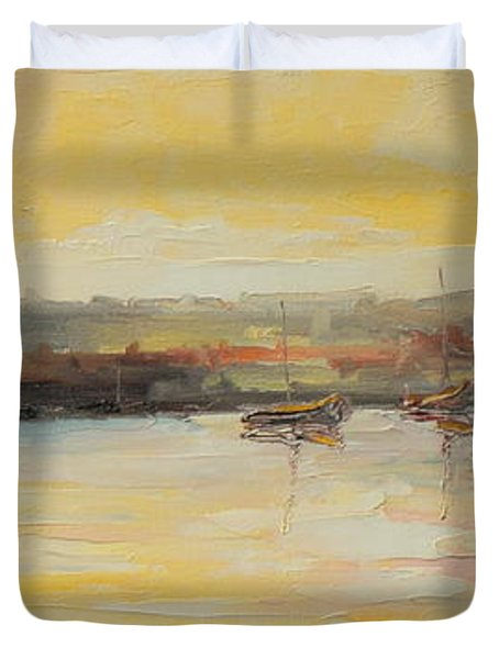 The Scarborough Harbour Duvet Cover