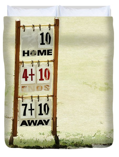 The Score Board Duvet Cover by Steve Taylor