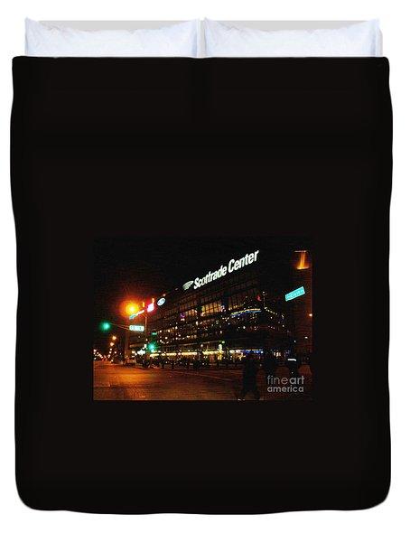 The Scott Trade Center Duvet Cover by Kelly Awad