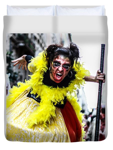 Duvet Cover featuring the photograph The Scream Crusher by Stwayne Keubrick