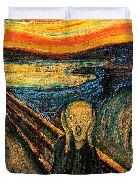 The Scream Edvard Munch 1893                    Duvet Cover
