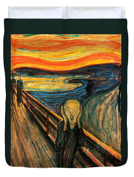 The Scream Edvard Munch 1893                    Duvet Cover