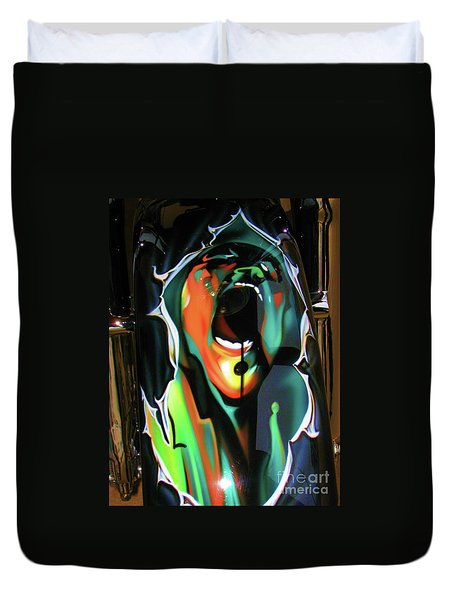 Duvet Cover featuring the photograph The Scream - Pink Floyd by Susan Carella