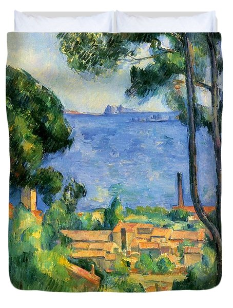 The Sea At The Estaque Duvet Cover by Paul Cezanne