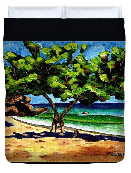 The Sea-grape Tree Duvet Cover