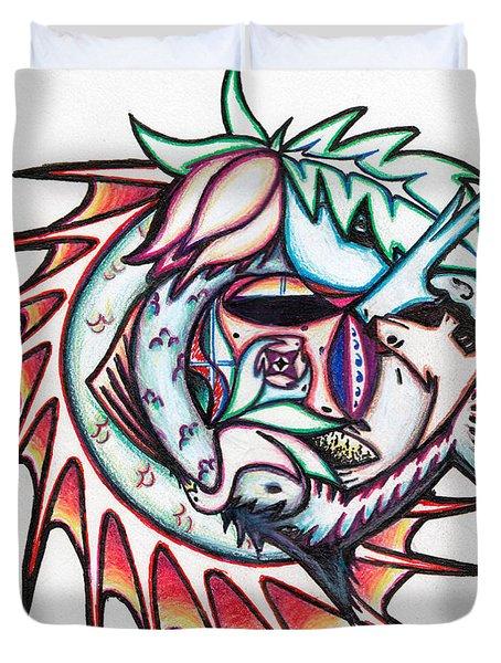The Seahorse Mosaic Duvet Cover