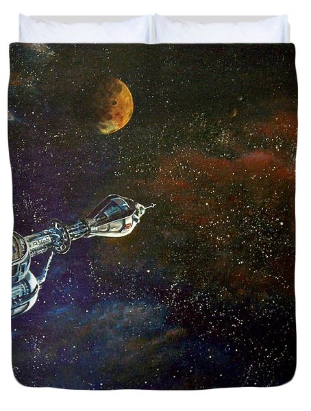 The Search For Earth Duvet Cover by Murphy Elliott