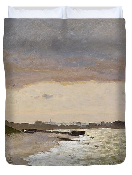 The Seashore At Sainte Adresse Duvet Cover by Claude Monet