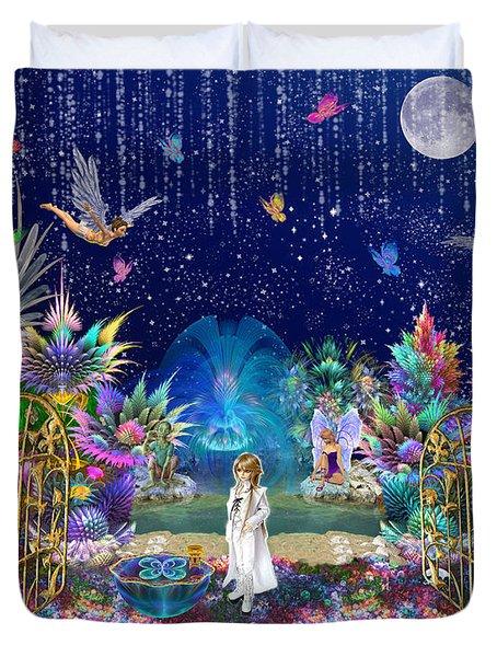 The Secret Garden Duvet Cover by Peggi Wolfe