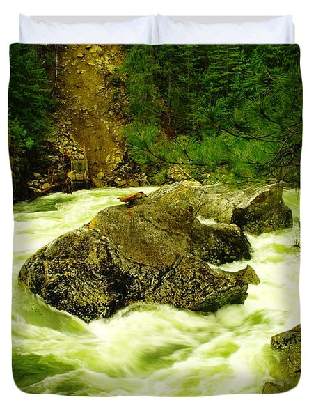The Selway River Duvet Cover by Jeff Swan