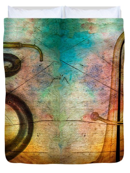 Duvet Cover featuring the photograph The Serpent And Euphonium -  Featured In Spectacular Artworks by Ericamaxine Price
