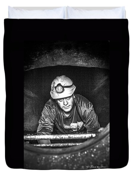 Duvet Cover featuring the photograph The Sewer Guy by Stwayne Keubrick