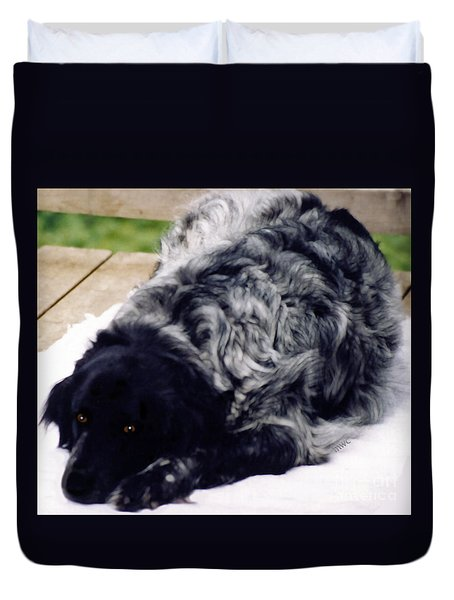 The Shaggy Dog Named Shaddy Duvet Cover