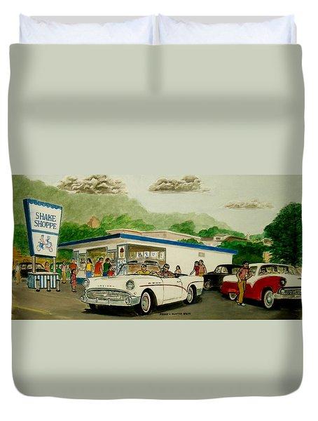 The Shake Shoppe Portsmouth Ohio 1960 Duvet Cover by Frank Hunter