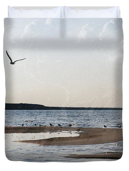 The Shallows At Whitefish Bay Duvet Cover