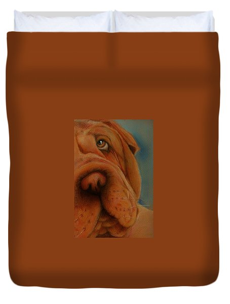 The Shar-pei  Duvet Cover by Jean Cormier