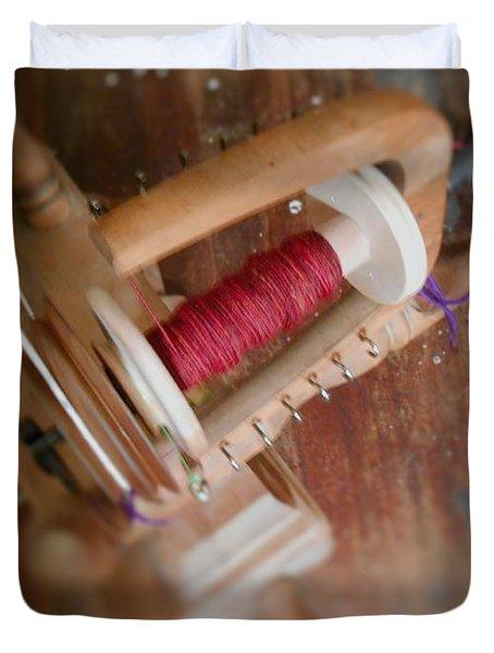 Duvet Cover featuring the digital art The Shawl Yarn by Aliceann Carlton