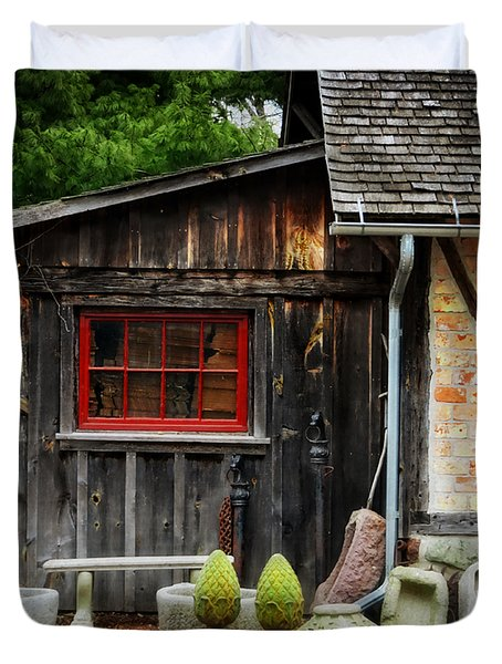 The Shed At Monches Farm Duvet Cover by Mary Machare