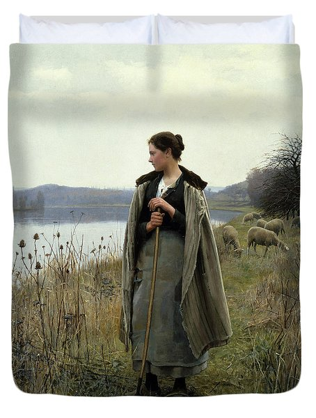 The Shepherdess Of Rolleboise Duvet Cover