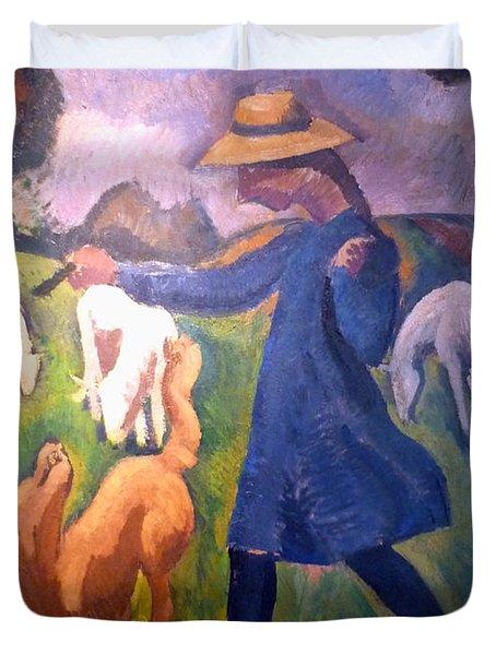 The Shepherdess Duvet Cover by Roger de La Fresnaye