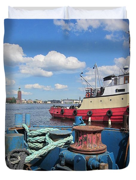 The Shipyard Duvet Cover