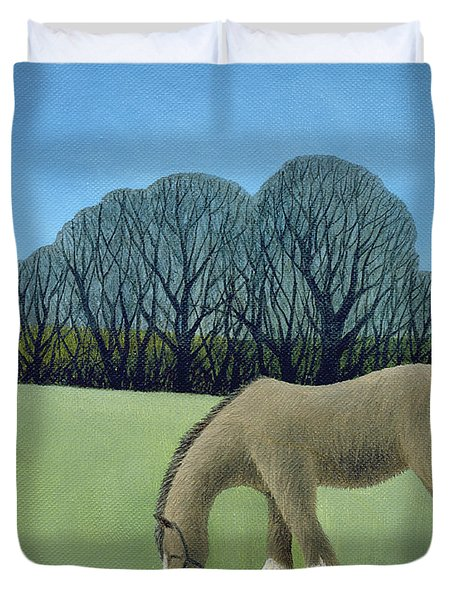 The Shire Horse, 2006 Oil On Canvas Duvet Cover