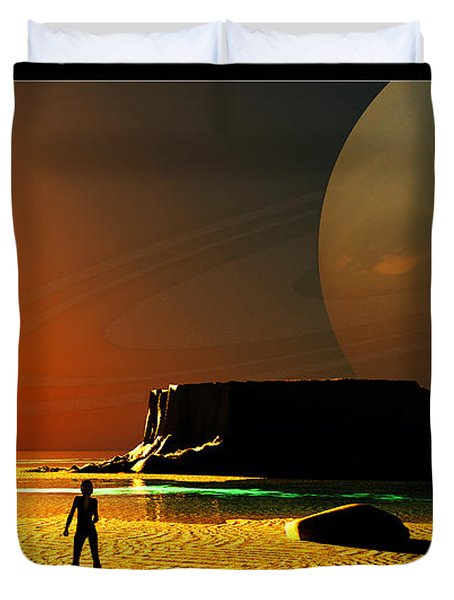 The Shore Of The Cupric Seas... Duvet Cover by Tim Fillingim