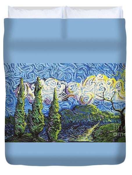 The Shores Of Dreams Duvet Cover