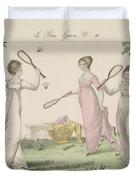 The Shuttlecock, Plate 11 From Le Bon Duvet Cover by French School