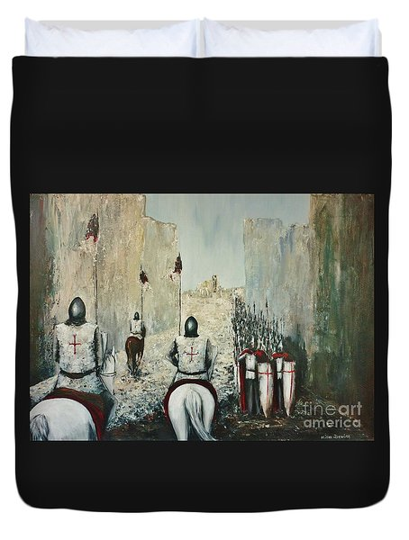 The Siege Of Ascalon Duvet Cover