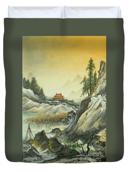 The Silence In The Mountains Duvet Cover