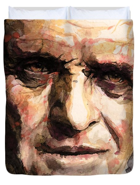 The Silence Of The Lambs Duvet Cover by Laur Iduc