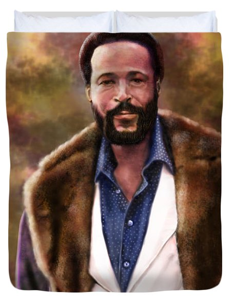 The Silky Silky Soul Singer - Marvin Gaye  Duvet Cover