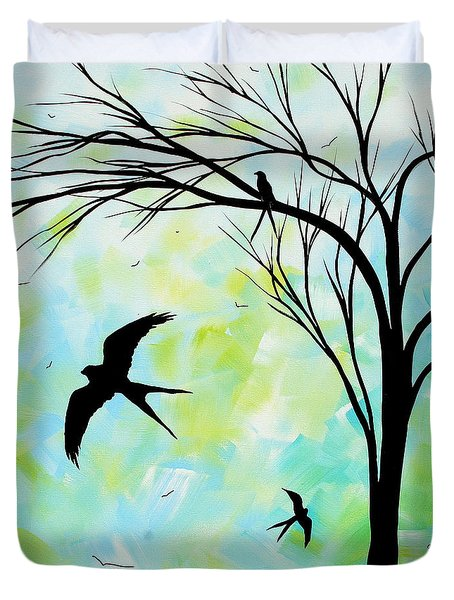 The Simple Life By Madart Duvet Cover by Megan Duncanson