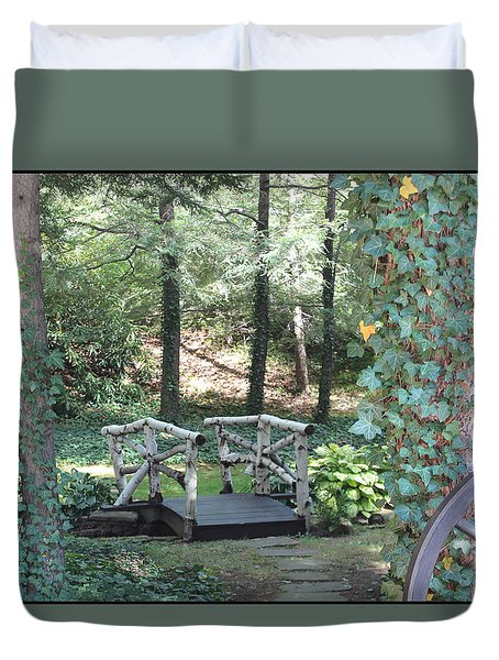 Duvet Cover featuring the photograph The Path by Debra     Vatalaro